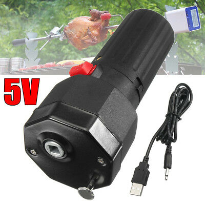 Electric Grill Rotisserie Motor BBQ Barbecue Roast Bracket Rotator Spit 5V USB