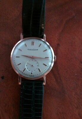 jaeger lecoultre solid 18k mens watch