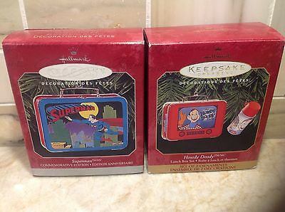 Hallmark Keepsake Ornament SUPERMAN and HOWDY DOODY Lunch Box Set