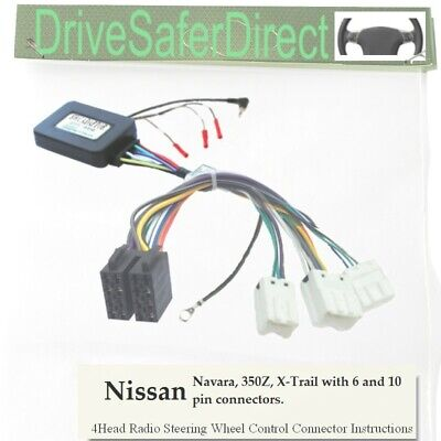 ANAlogz-SWC-5232-99 Stalk Adaptor for ISO Radio/Nissan 6 and 10 Way Connector