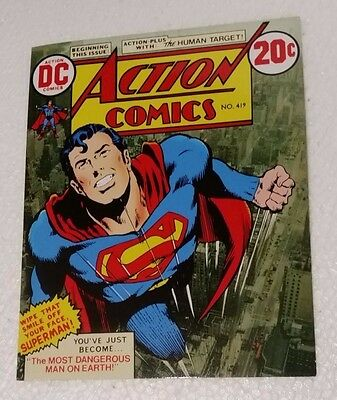 ACTION COMICS #419 Superman stamp set comic book style 16 x $1 stamps MUH MNH