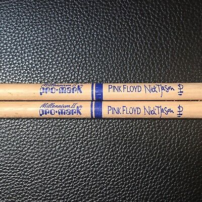 Pink Floyd - Nick Mason -  Real Custom Tour Drumsticks - Rare!!