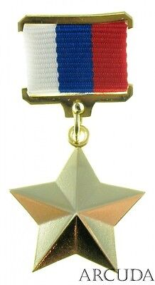 """Russian Gold Star Medal of the """"Hero"""". Excellent copy"""