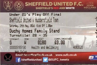 (B9) Sheffield United v Huddersfield Town 14/05/16 Under 21's Play Off Final Ti