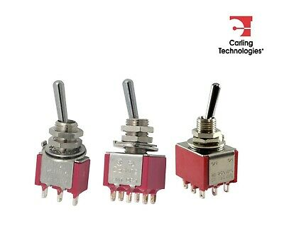 Carling Mini Toggle Switch, 2M1 Series (Variations available)