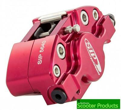 Sip Cnc Uprated Brake Caliper Anodised Red Fits Vespa Px 125 Tracked Post