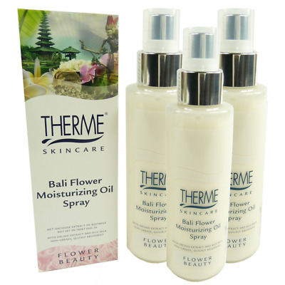 Therme Skincare Bali Flower Moisturizing Oil Spray Körper Öl MULTIPACK 3x125ml