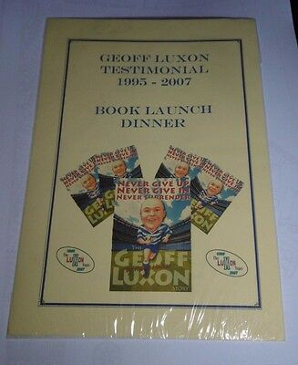 Geoff Luxon Testimonial Book Launch Dinner 9th November 2007, @ Chequers Hotel