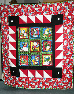 Snowman Blanket - Cotton Front, Flannel Back, Bamboo Cotton Batting - only 1