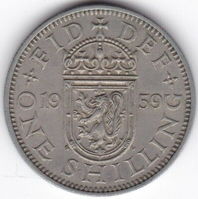1959 Elizabeth II Scottish 1 Shilling***Collectors***
