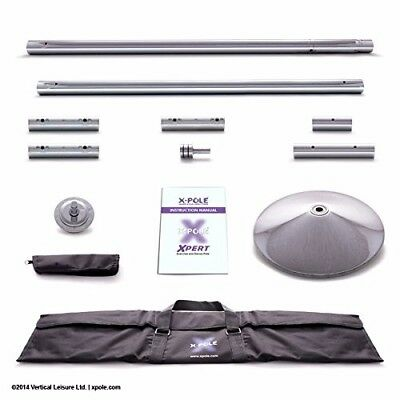 X-Pole Xpert Chrome 45mm Professional Static & Spinning Pole With Cleaning Cloth