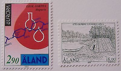 Aland 1994 - 2 stamps Europa, Stone age MNH