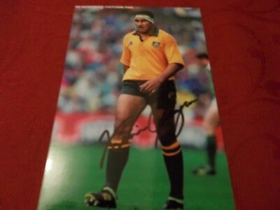 Willie Ofahengoue, Australia Rugby Player, Signed 6 X 4 Photo