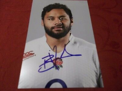 Billy Vunipola, England Rugby Player, Signed 6 X 4 Photo