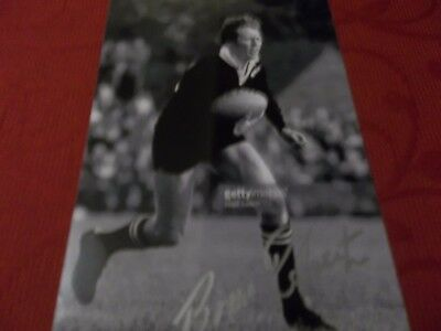 Bruce Robinson, New Zealand Rugby Player, Signed 6 X 4 Photo