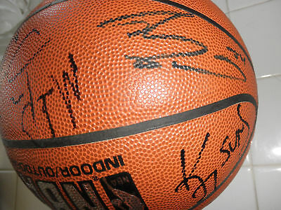 SHAQUILLE ONEAL/DREAM TEAM SIGNED BASKETBALL x11 PROOF!