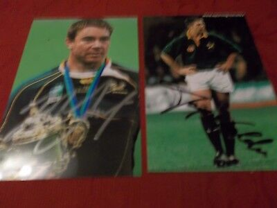2. South Africa Rugby Players, 2 Signed 6 X 4 Photos