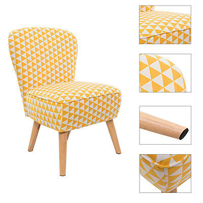Bedroom Living Room Office Chairs Linen Fabric Accent Chair Lounge Retro Armless