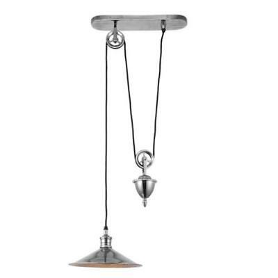 Antique Silver Rise and Fall Pendant light