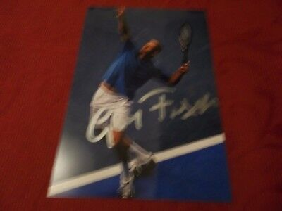 Guy Forget, Tennis Star, Signed 6 X 4 Photo