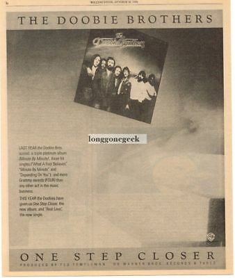 1980 THE DOOBIE BROTHERS One Step Closer Vtg Album Promo Print Ad