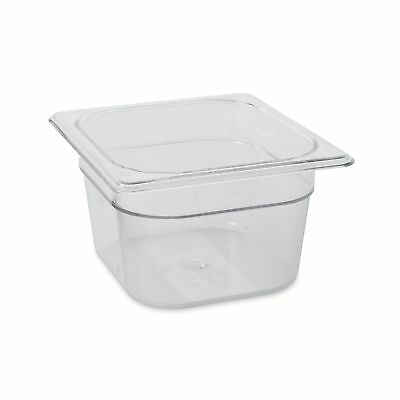 Rubbermaid Commercial Cold Food Pan 1/6 Size Clear FG105P00CLR