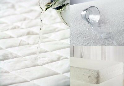 All Types Of Waterproof Mattress Protector Terry Towel Bamboo Quilted All Sizes