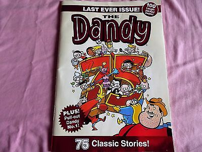 """THE DANDY """"LAST EVER ISSUE""""  75 classic stories. 100 laugh packed pages."""