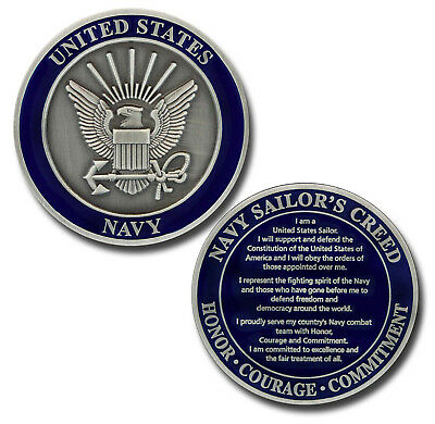 NEW U.S. Navy Sailor's Creed Challenge Coin.