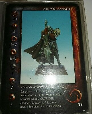 Confrontation Arkeon Sanath, new in Blister, Spanish card