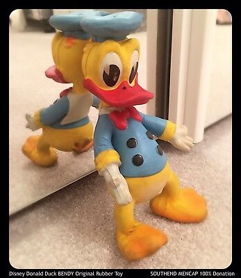 ✨Disney Vintage Donald Duck Bendy Twist Bend Rubber Toy RARE Collectible 1950s💙