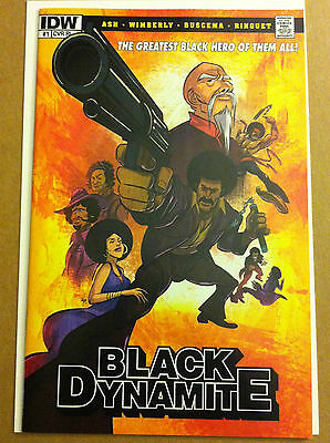 BLACK DYNAMITE #1 RI VARIANT COVER by SIX POINT HARNESS STUDIO IDW 1ST PRINT NM