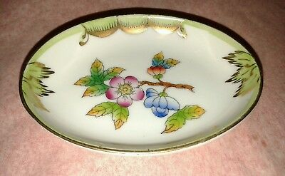 Herend Handpainted Oval Pin Dish.