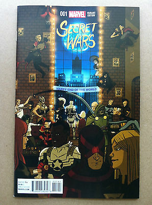 """Secret Wars (2015) #1 Chip Zdarsky """"party"""" Variant Cover First Print Near Mint"""