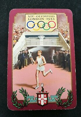 Vintage Single Swap Playing Card - Rare Vintage 1948 London Olympics.