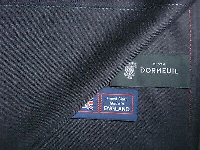 DORMEUIL 100% SUPERFINE WOOL SUITING FABRIC IN Charcoal–MADE IN ENGLAND - 3.4 m.