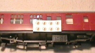 Hornby Lima Triang Br Coach Roundels Transfers / Water Slide Decal's Pack Of 8