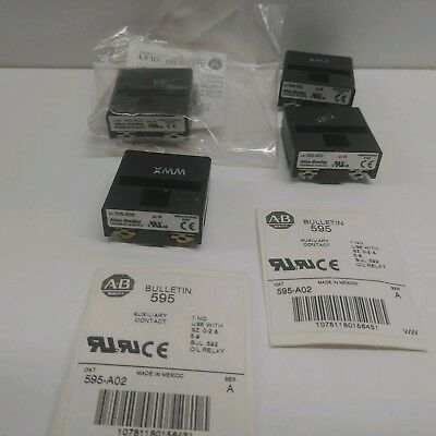 Lot Of (4) New Old Stock! Allen-Bradley Auxiliary Contacts 595-A02