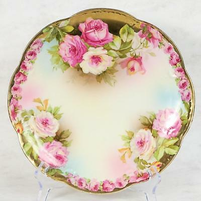 Royal Vienna Plate - Plate #2 Roses With Lots Of Gilding