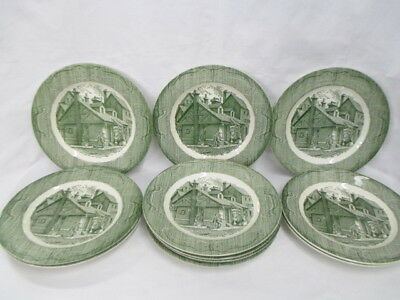 Royal China The Old Curiosity Shop Set of 11 - Dinner Plates 1950's (CI)