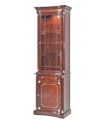 Chippendale ~ Regency Narrow Display Cabinet Curio China Theodore Alexander NEW