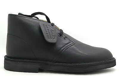 [Desert Boot Jr-04832] Clarks Desert Boot Boy Jnr Pre-School Shoes Clarksblack S