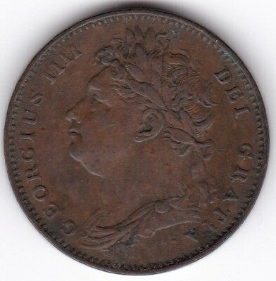 1821 George IV Farthing***Collectors***