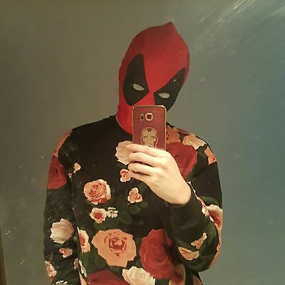 US SHIP! Deadpool Full Face Mask Halloween Cosplay Costume Hood Fancy Lycra Mask
