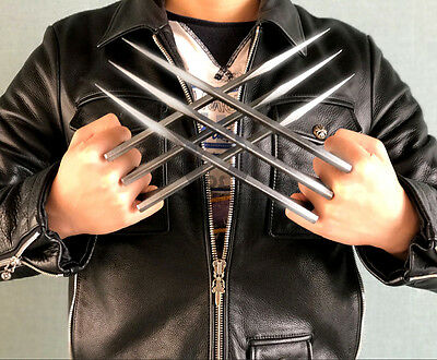 1 Pair X-Men Wolverine Logan Claws Blade of Refinement Cosplay Props ABS Claws