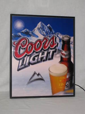 RARE Coors Light Beer Sign Lights up in Stages