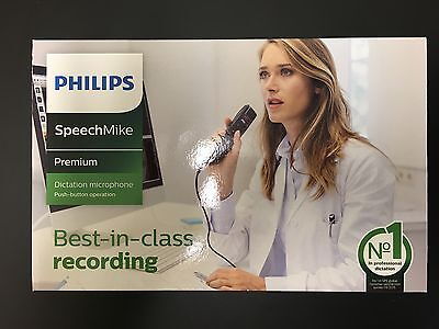 "NEW Philips SpeechMike Premium LFH3500 USB DICTATION MICROPHONE ""Warranty"""