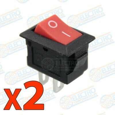 Mini Interruptor ON OFF 3A 220v - Rojo / Negro. - Lote 2 unidades - Arduino Elec