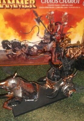 Warhammer Age of Sigmar. Chaos Chariot/Gorebeast Chariot. Partially Painted.