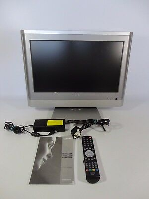"""Toshiba 20"""" LCD TV 20WLT56B Remote Colour Television Screen Kid's Bedroom Silver"""